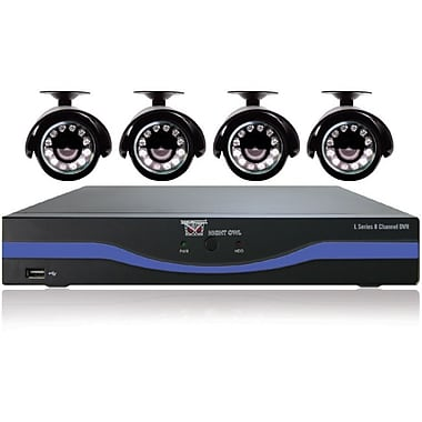 Night Owl L-85-4511 8 Channel 960H DVR With HDMI and 4 x 480 TVL Cameras