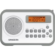 Sangean® PR-D18 FM/AM Digital Tuning-Portable Receiver, White/Gray