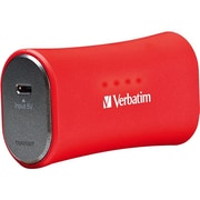 Verbatim® 2200mAh Li-Ion-Portable Battery Power Adapter, Red