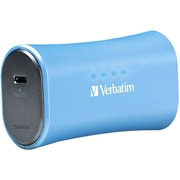 Verbatim® 2200 mAh Li-Ion-Portable Battery Power Adapter, Aqua Blue