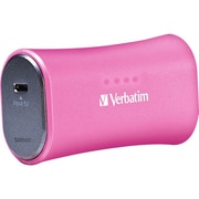 Verbatim® 2200 mAh Li-Ion-Portable Battery Power Adapter, Pink