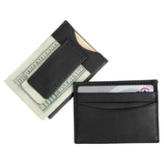 Royce Leather Magnetic Money Clip Wallet Black