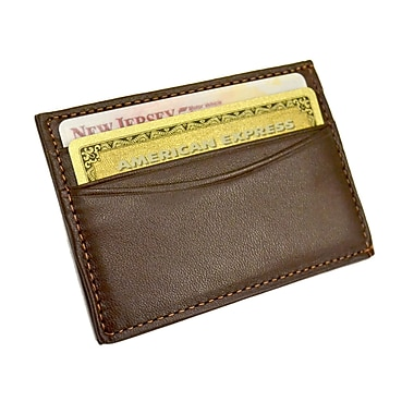 Royce Leather Magnetic Money Clip Wallet, Coco, Gold Foil Stamping, 3 Initials