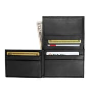 Royce Leather Men's Flip Credit Card Wallet Black