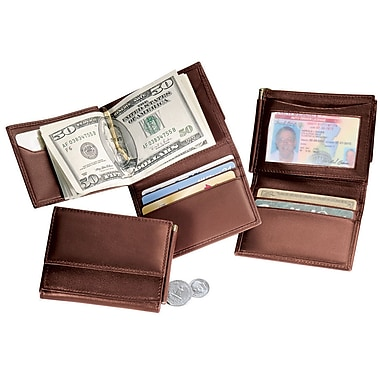 Royce Leather Men's Money Clip Wallet, Coco