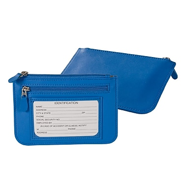Royce Leather Slim City Wallet, Royce Blue