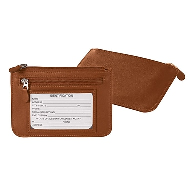 Royce Leather Slim City Wallet, Tan