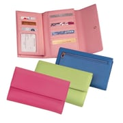 Royce Leather Women's Checkbook Clutch Carnation Pink