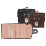 Royce Leather French Purse Wallet Coco/Carnation Pink
