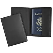 Royce Leather Passport Holder Black