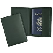 Royce Leather Passport Holder Green