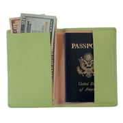 Royce Leather Passport Holder Key Lime Green