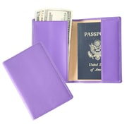 Royce Leather Passport Holder Purple
