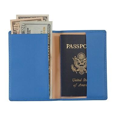 Royce Leather Passport Holder Royce Blue