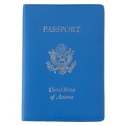 Royce Leather Foil Stamped Passport Jacket Royce Blue