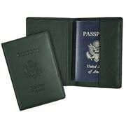 Royce Leather Debossed Passport Jacket Green