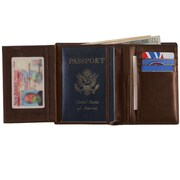 Royce Leather European Passport Wallet Coco