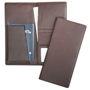 Royce Leather Passport Ticket Holder Burgundy