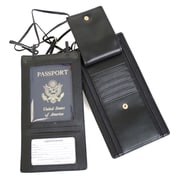 Royce Leather Security Passport Wallet Black