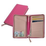 Royce Leather Passport Travel Wallet Wildberry Carnation Pink
