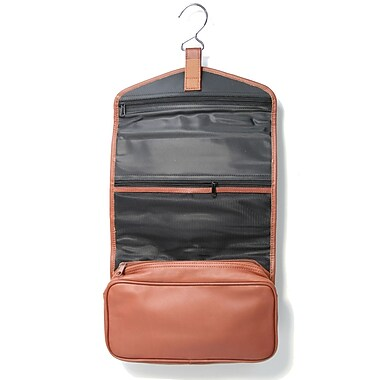 Royce Leather – Sac pour articles de toilette à suspendre, havane