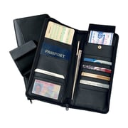 Royce Leather Travel Document Case Black