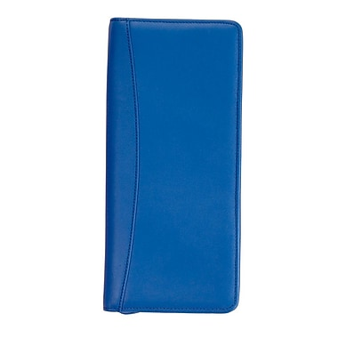 Royce Leather Expanded Travel Document Case, Royce Blue