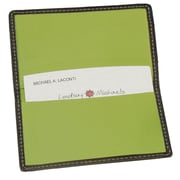 Royce Leather Business Card Case Metro Collection Key Lime Green
