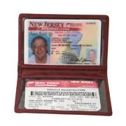 Royce Leather Mini ID Case Burgundy