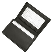 Royce Leather Business Card Case Holder in Leather, Black (OS-MFL405-BLK)