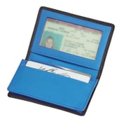 Royce Leather Deluxe Card Holder Metro Collection Ocean Blue