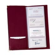 Royce Leather Business Card File Burgundy