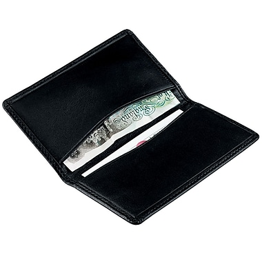Royce Leather International Card Holder, Black