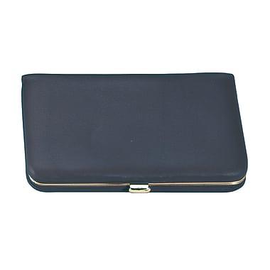 Royce Leather Framed Business Card Wallet Blue