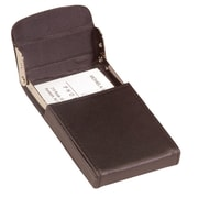 Royce Leather Vertical Framed Card Case Brown