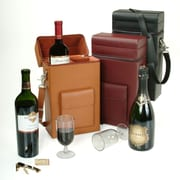 "Royce Leather 14.75""H x 7.75""W x 4""D Solid Wine Boxes, Burgundy"