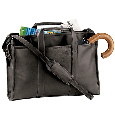 Royce Leather 'Ellis' Briefcase, Black