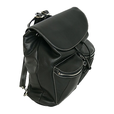 Royce Leather Knapsack, Black