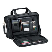 Royce Leather Expandable Briefcase Black