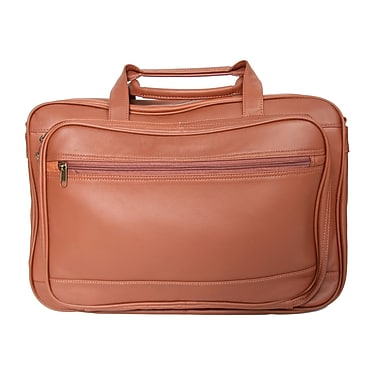 Royce Leather Expandable Briefcase Tan
