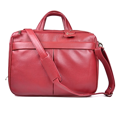 Royce Leather Laptop Briefcase Red