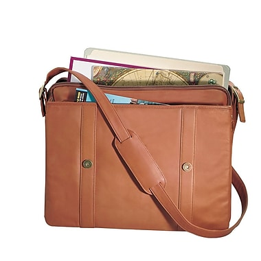 Royce Leather Deluxe Expandable Briefcase Tan
