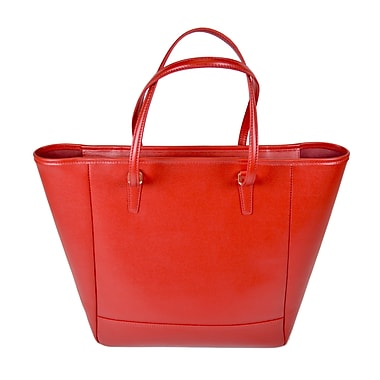 Royce Leather Charlotte Saffiano Tote Bag Red 655-RED-2