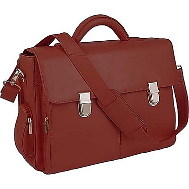 Royce Leather Cosmopolitan Computer Brief Red