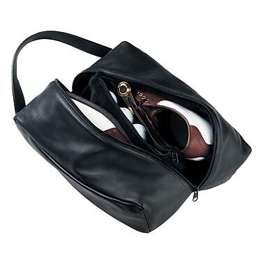 Royce Leather Shoe Bag Black