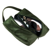 Royce Leather Shoe Bag Green