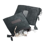 Royce Leather Valuable Pouch Black