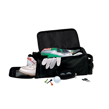 Royce Leather Golf Shoe & Accessory Bag Black