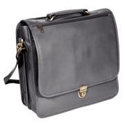 Royce Leather Laptop Organizer Briefcase Black