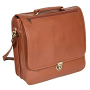 Royce Leather Laptop Organizer Briefcase Tan